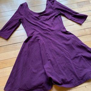 Express Purple A-line Dress